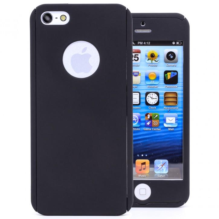 COOVY® Cover für Apple iPhone 5 / 5s / SE 360° rundum Bumper Case, ultra dünn und leicht, mit Displayschutz, Fullbody-Hülle |
