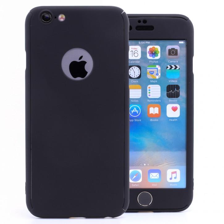 COOVY® Cover für Apple iPhone 6 / 6s 360 Grad rundum Bumper Case, ultra dünn und leicht, mit Displayschutz, Fullbody-Hülle