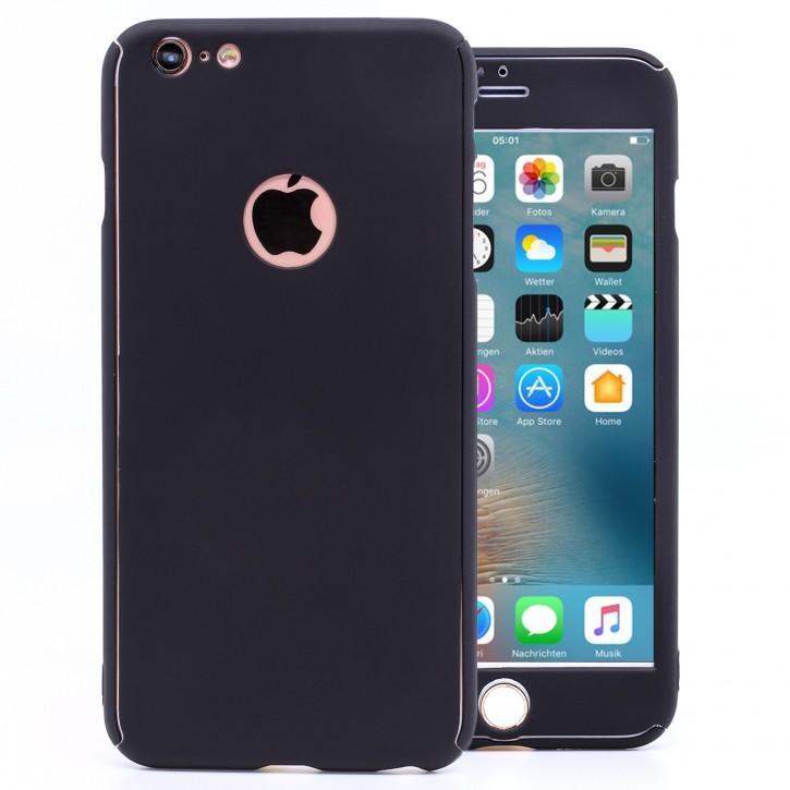 COOVY® Cover für Apple iPhone 6 + plus 360 Grad rundum Bumper Case, ultra dünn und leicht, mit Displayschutz, Fullbody-Hülle