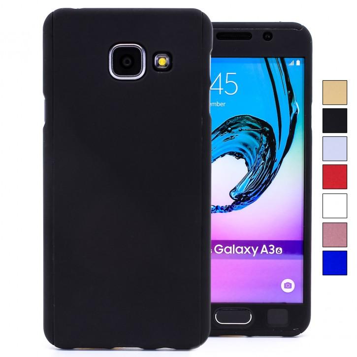 COOVY® Cover für Samsung Galaxy A3 SM-A310 / SM-A310F (Model 2016) 360 Grad rundum Bumper Case, ultra dünn und leicht, mit Displayschutz, Fullbody-Hülle