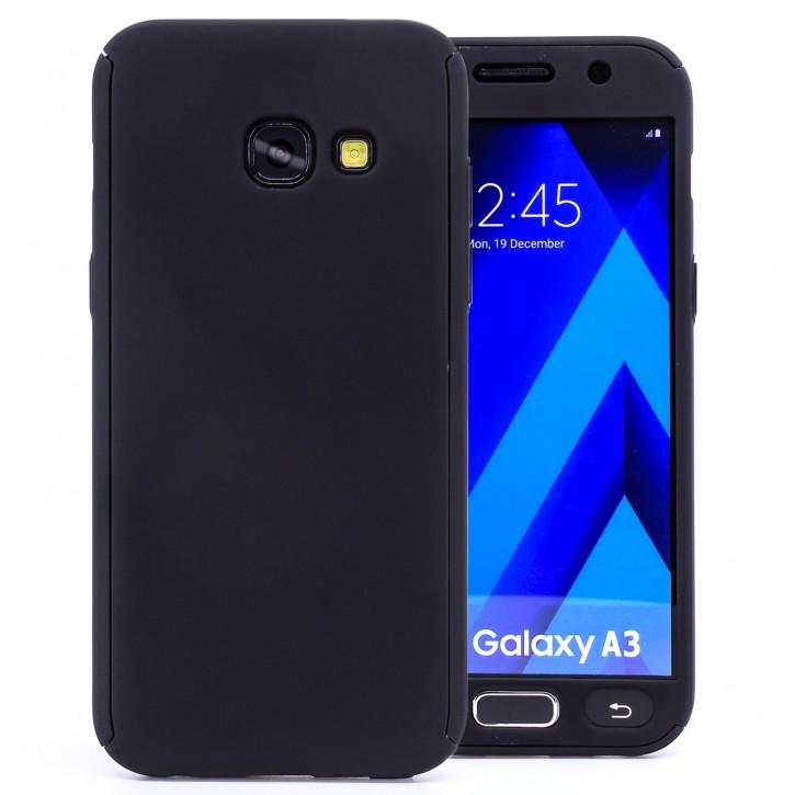 COOVY® Cover für Samsung Galaxy A3 SM-A320 / SM-A320F (Model 2017) 360 Grad rundum Bumper Case, ultra dünn und leicht, mit Displayschutz, Fullbody-Hülle