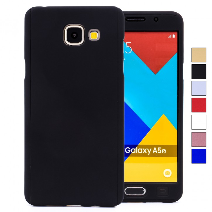 COOVY® Cover für Samsung Galaxy A5 SM-A510 / SM-A510F (Model 2016) 360 Grad rundum Bumper Case, ultra dünn und leicht, mit Displayschutz, Fullbody-Hülle