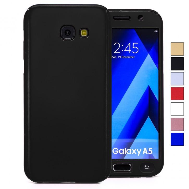 COOVY® Cover für Samsung Galaxy A5 SM-A520 / SM-A520F (Model 2017) 360 Grad rundum Bumper Case, ultra dünn und leicht, mit Displayschutz, Fullbody-Hülle