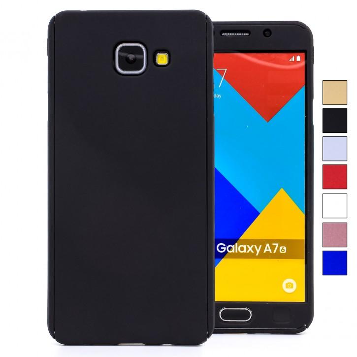 COOVY® Cover für Samsung Galaxy A7 SM-A710 / SM-A710F (Model 2016) 360 Grad rundum Bumper Case, ultra dünn und leicht, mit Displayschutz, Fullbody-Hülle