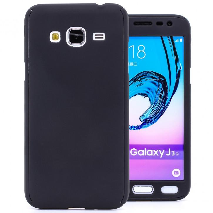 COOVY® Cover für Samsung Galaxy J3 SM-J310 SM-J320 (Model 2015 / 2016) 360° rundum Bumper Case, ultra dünn und leicht, mit Displayschutz, Fullbody-Hülle |