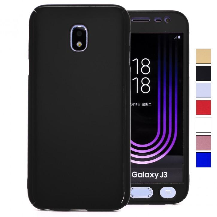 COOVY® Cover für Samsung Galaxy J3 SM-J330G / SM-J330F/DS (Model 2017) / J3 pro 360 Grad rundum Bumper Case, ultra dünn und leicht, mit Displayschutz, Fullbody-Hülle