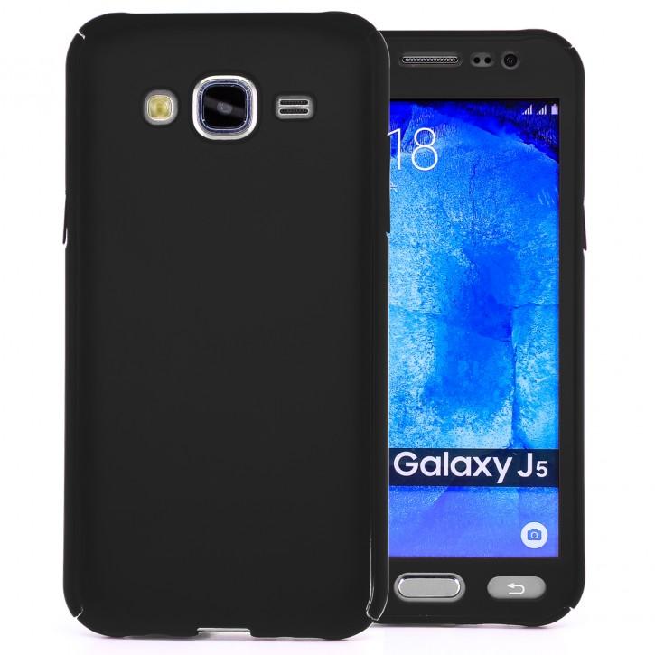 COOVY® Cover für Samsung Galaxy J5 SM-J500 SM-J500F (Model 2015) 360 Grad rundum Bumper Case, ultra dünn und leicht, mit Displayschutz, Fullbody-Hülle