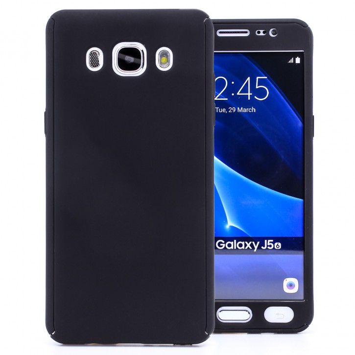 COOVY® Cover für Samsung Galaxy J5 SM-J510 SM-J510F/DS (Model 2016) 360 Grad rundum Bumper Case, ultra dünn und leicht, mit Displayschutz, Fullbody-Hülle