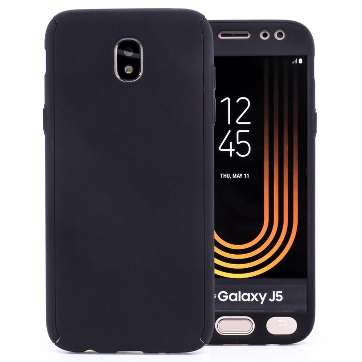 COOVY® Cover für Samsung Galaxy J5 SM-J530 / SM-J530F/DS (Model 2017) / J5 pro 360 Grad rundum Bumper Case, ultra dünn und leicht, mit Displayschutz, Fullbody-Hülle