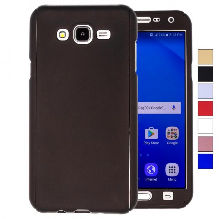 COOVY® Cover für Samsung Galaxy J7 SM-J700 / SM-J700F / SM-J700F/DS (Model 2015) 360 Grad rundum Bumper Case, ultra dünn und leicht, mit Displayschutz, Fullbody-Hülle