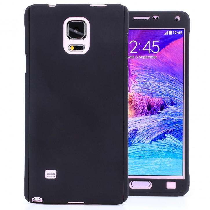 COOVY® Cover für Samsung Galaxy Note 4 SM-N910 / SM-N910F / SM-N9100 360 Grad rundum Bumper Case, ultra dünn und leicht, mit Displayschutz, Fullbody-Hülle