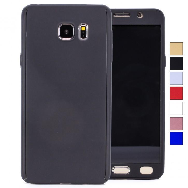 COOVY® Cover für Samsung Galaxy Note 5 SM-N920 / SM-920F 360 Grad rundum Bumper Case, ultra dünn und leicht, mit Displayschutz, Fullbody-Hülle