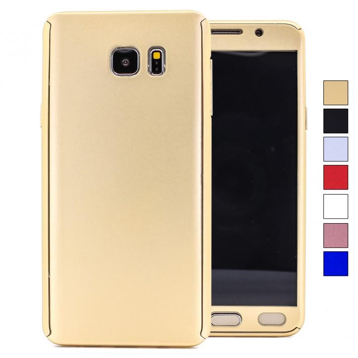 COOVY® Cover für Samsung Galaxy Note 5 SM-N920 / SM-920F 360 Grad rundum Schutzhülle, ultra dünnes und leichtes Case, mit Displayschutz, Fullbody-Hülle