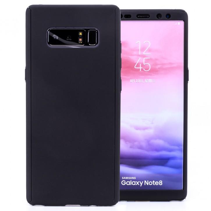 COOVY® Cover für Samsung Galaxy Note 8 SM-N950 / SM-N950F / SM-N950FD 360 Grad rundum Bumper Case, ultra dünn und leicht, mit Displayschutz, Fullbody-Hülle