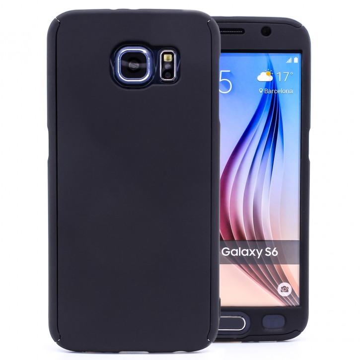 COOVY® Cover für Samsung Galaxy S6 SM-G920F SM-G920 360 Grad rundum Bumper Case, ultra dünn und leicht, mit Displayschutz, Fullbody-Hülle