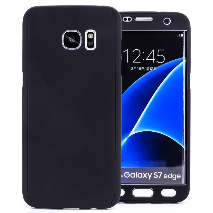 COOVY® Cover für Samsung Galaxy S7 EDGE SM-G935F SM-G935 360 Grad rundum Bumper Case, ultra dünn und leicht, mit Displayschutz, Fullbody-Hülle