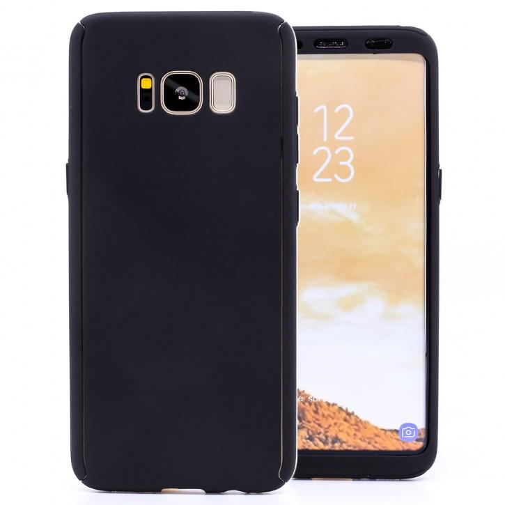 COOVY® Cover für Samsung Galaxy S8 SM-G950F / SM-G950FD 360 Grad rundum Bumper Case, ultra dünn und leicht, mit Displayschutz, Fullbody-Hülle