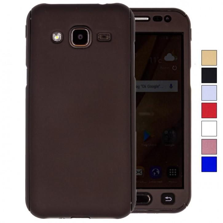 COOVY® Cover für Samsung Galaxy J2 SM-J200 / SM-J200F / SM-J200F/DS (Model 2015) 360 Grad rundum Bumper Case, ultra dünn und leicht, mit Displayschutz, Fullbody-Hülle