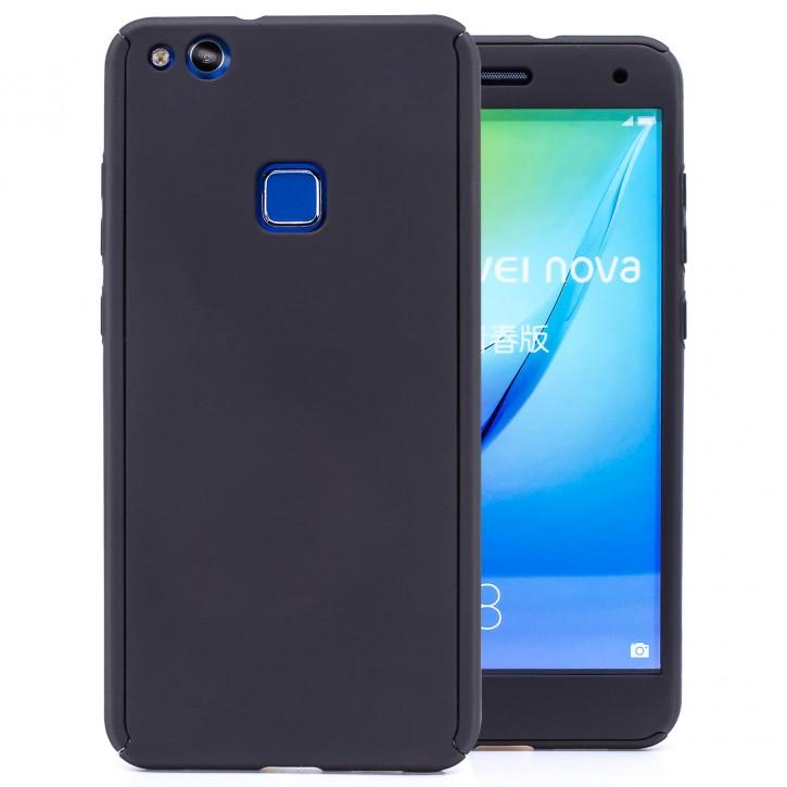 COOVY® Cover für Huawei P10 lite / NOVA lite 360 Grad rundum Bumper Case, ultra dünn und leicht, mit Displayschutz, Fullbody-Hülle
