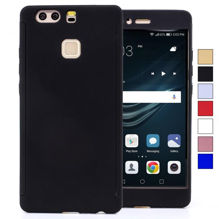 COOVY® Cover für Huawei P9 360 Grad rundum Bumper Case, ultra dünn und leicht, mit Displayschutz, Fullbody-Hülle