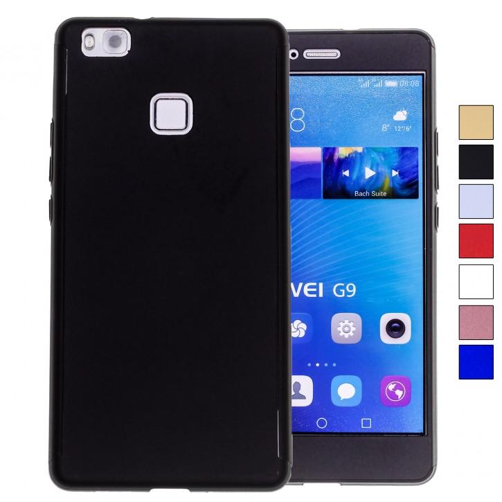 COOVY® Cover für Huawei P9 lite / G9 lite 360 Grad rundum Bumper Case, ultra dünn und leicht, mit Displayschutz, Fullbody-Hülle