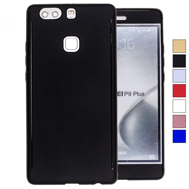COOVY® Cover für Huawei P9 + plus 360° rundum Bumper Case, ultra dünn und leicht, mit Displayschutz, Fullbody-Hülle |