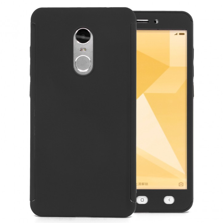COOVY® Cover für Xiaomi Redmi Note 4X 360 Grad rundum Bumper Case, ultra dünn und leicht, mit Displayschutz, Fullbody-Hülle