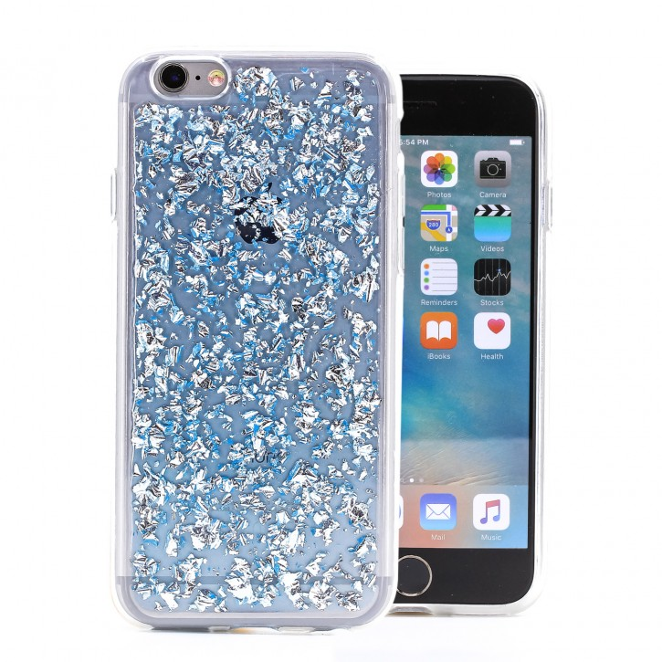 COOVY® Cover für Apple iPhone 6 / 6s dünnes TPU Silikon Bumper Case, Slim, in funkelndem Glitzer-Design