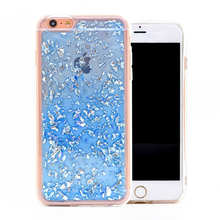 COOVY® Cover für Apple iPhone 6 + plus dünnes TPU Silikon Bumper Case, Slim, in funkelndem Glitzer-Design