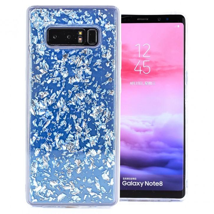 COOVY® Cover für Samsung Galaxy Note 8 SM-N950 / SM-N950F / SM-N950FD dünnes TPU Silikon Bumper Case, Slim, in funkelndem Glitzer-Design
