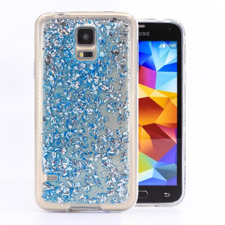 COOVY® Cover für Samsung Galaxy S5 SM-G900F SM-G901F Neo SM-G903F dünnes TPU Silikon Bumper Case, Slim, in funkelndem Glitzer-Design
