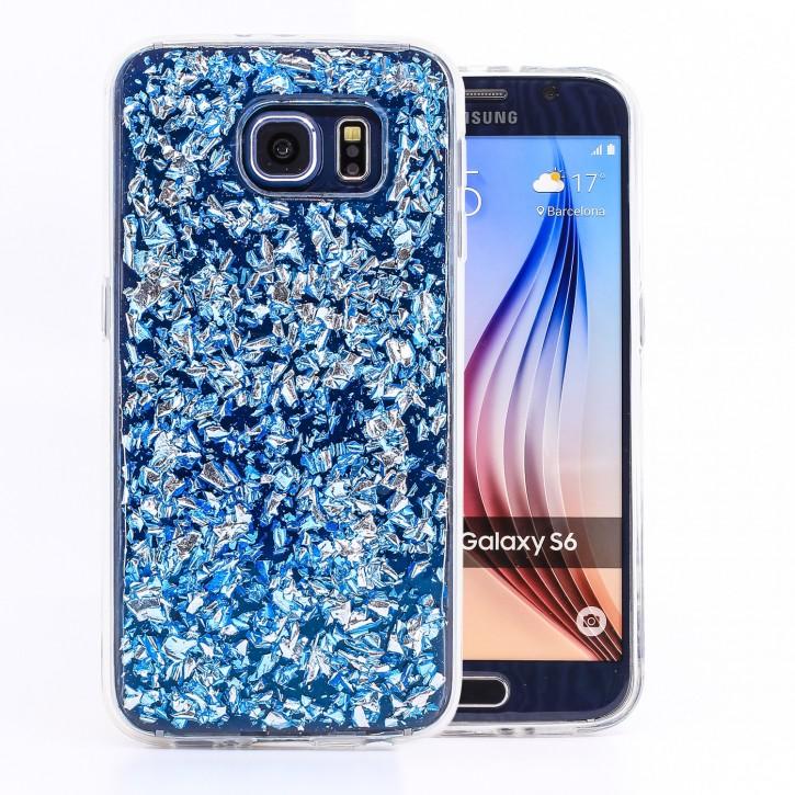 COOVY® Cover für Samsung Galaxy S6 SM-G920F SM-G920 dünnes TPU Silikon Bumper Case, Slim, in funkelndem Glitzer-Design