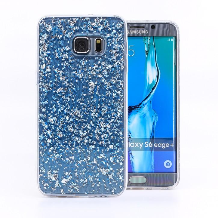 COOVY® Cover für Samsung Galaxy S6 EDGE + plus SM-G928F dünnes TPU Silikon Bumper Case, Slim, in funkelndem Glitzer-Design
