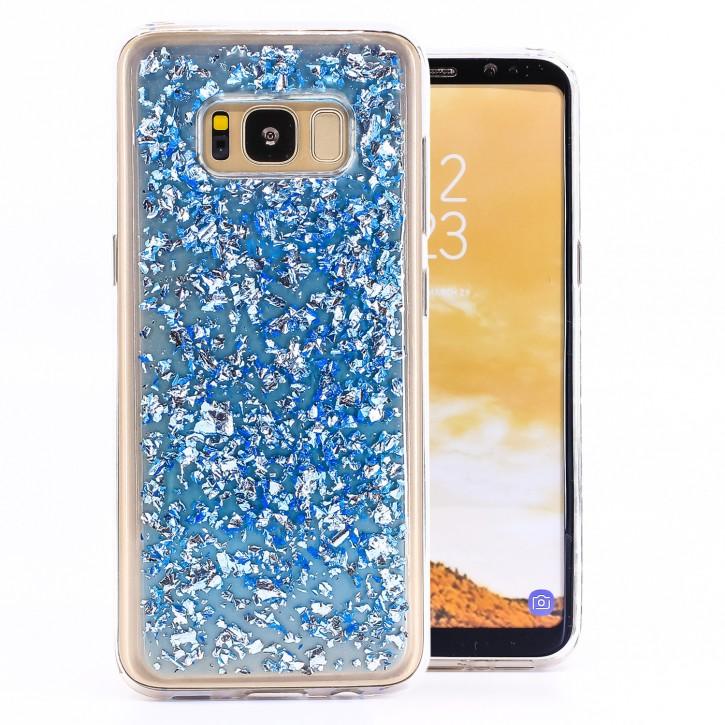 COOVY® Cover für Samsung Galaxy S8 SM-G950F / SM-G950FD dünnes TPU Silikon Bumper Case, Slim, in funkelndem Glitzer-Design