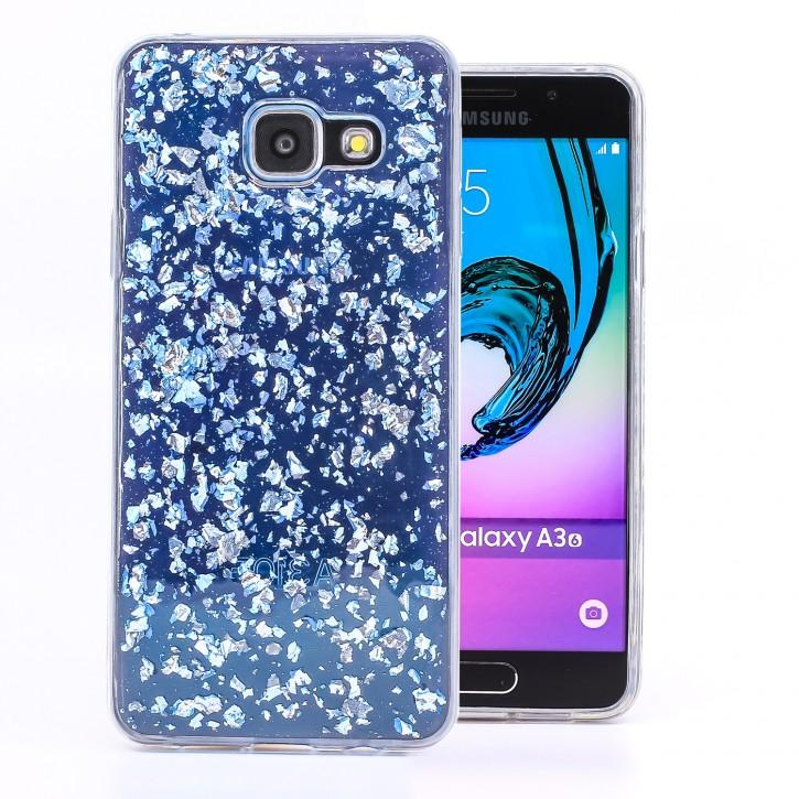 COOVY® Cover für Samsung Galaxy A3 SM-A310 / SM-A310F (Model 2016) dünnes TPU Silikon Bumper Case, Slim, in funkelndem Glitzer-Design