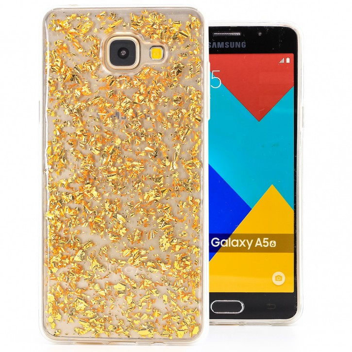 COOVY® Cover für Samsung Galaxy A5 SM-A510 / SM-A510F (Model 2016) dünnes TPU Silikon Bumper Case, Slim, in funkelndem Glitzer-Design