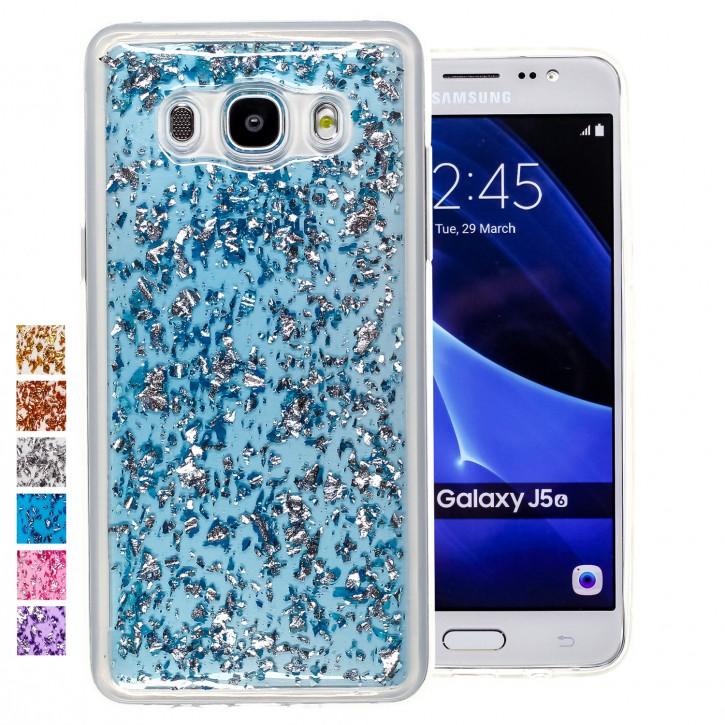 COOVY® Cover für Samsung Galaxy J5 SM-J510 SM-J510F/DS (Model 2016) dünnes TPU Silikon Bumper Case, Hülle, Slim, in funkelndem Glitzer-Design |