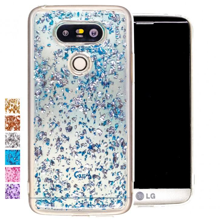 COOVY® Cover für LG G5 dünnes TPU Silikon Bumper Case, Slim, in funkelndem Glitzer-Design