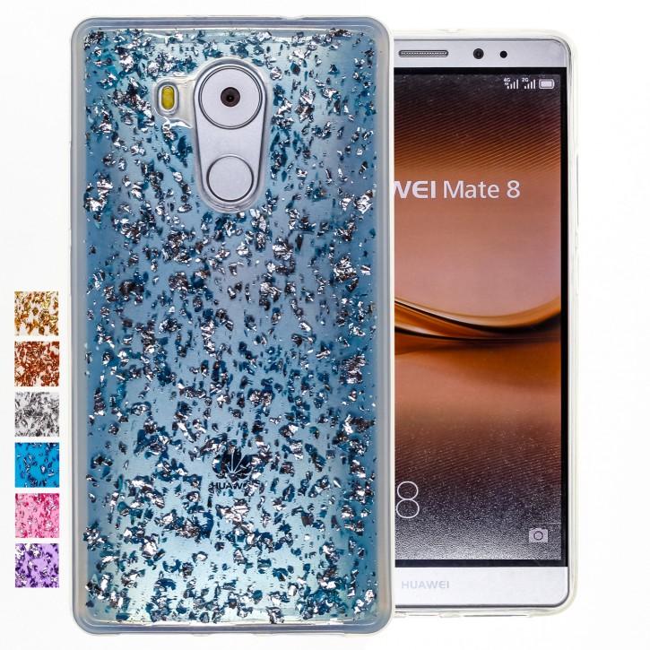 COOVY® Cover für Huawei Mate 8 dünnes TPU Silikon Bumper Case, Hülle, Slim, in funkelndem Glitzer-Design |