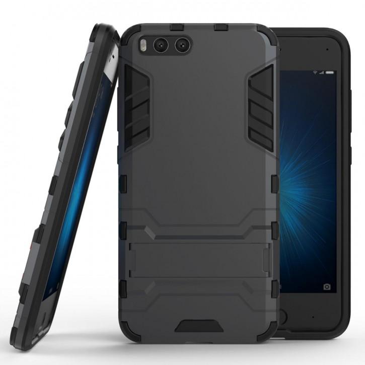 COOVY® Cover für Xiaomi Mi 6 Bumper Case, Doppelschicht aus Plastik + TPU-Silikon, extra stark, Anti-Shock, Standfunktion