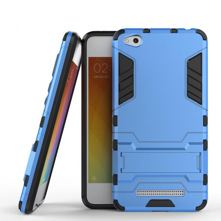 COOVY® Cover für Xiaomi Redmi 4A Bumper Case, Doppelschicht aus Plastik + TPU-Silikon, extra stark, Anti-Shock, Standfunktion