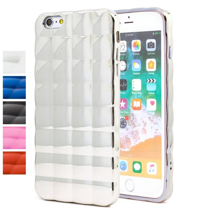 COOVY® Cover für Apple iPhone 6 / 6s leichtes TPU Silikon Bumper Case, Hülle, Slim, im Luftkissen-Design mit Chrom-Effekt |