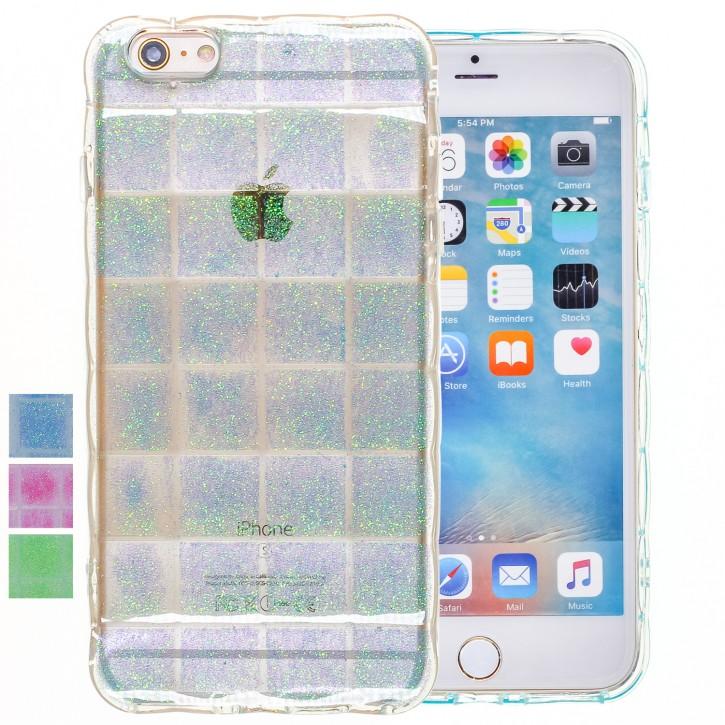 COOVY® Cover für Apple iPhone 6 + plus leichtes TPU Silikon Bumper Case, Slim, im Luftkissen Design mit Glitter Regenbogen-Effekt