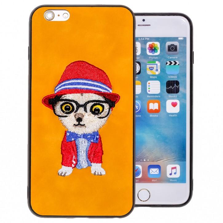 COOVY® Cover für Apple iPhone 6 + plus leichtes TPU Bumper Case/Hülle mit hochwertig gestickten süßen Tiermotiv mit 3D Augen Effekt |