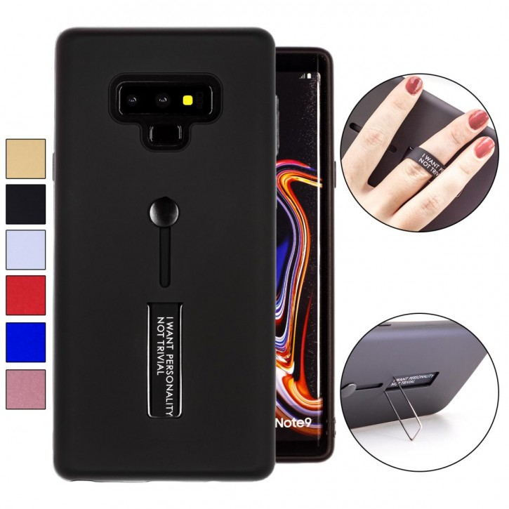 COOVY® Cover für Samsung Galaxy Note 9 SM-N960F / SM-N960F/DS Bumper Case, Doppelschicht aus Plastik + TPU-Silikon mit Halteschlaufe, Standfunktion