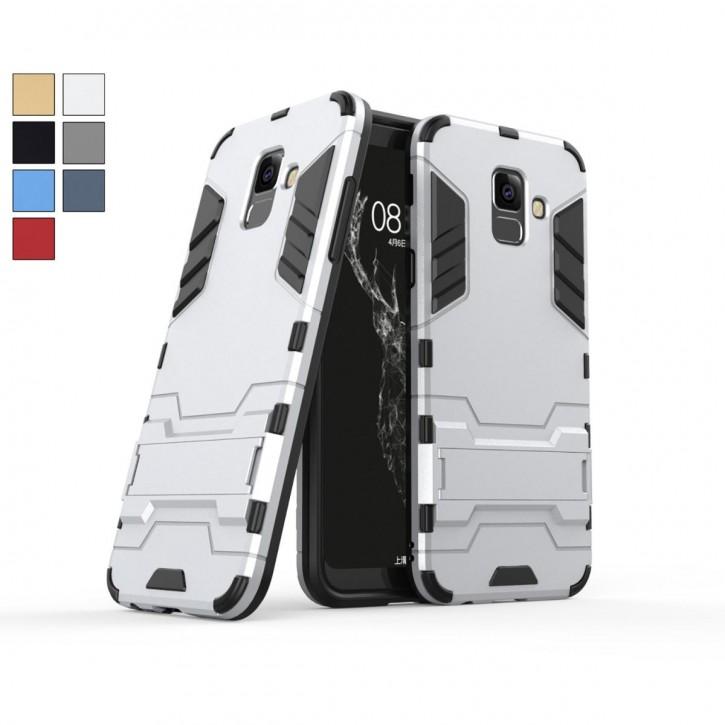 COOVY® Cover für Samsung Galaxy A6 SM-A600 / SM-A600F/DS (Model 2018) Bumper Case, Doppelschicht aus Plastik + TPU-Silikon, extra stark, Anti-Shock, Standfunktion