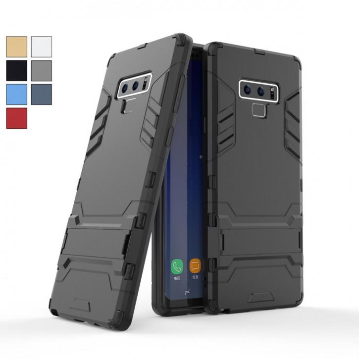 COOVY® Cover für Samsung Galaxy Note 9 SM-N960F / SM-N960F/DS Bumper Case, Doppelschicht aus Plastik + TPU-Silikon, extra stark, Anti-Shock Hülle, Standfunktion |