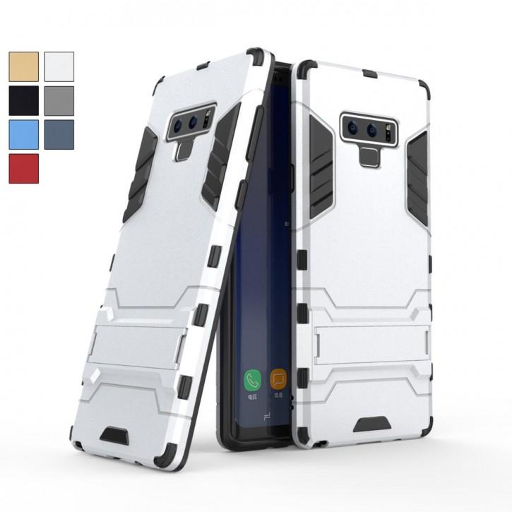 COOVY® Cover für Samsung Galaxy Note 9 SM-N960F / SM-N960F/DS Bumper Case, Doppelschicht aus Plastik + TPU-Silikon, extra stark, Anti-Shock, Standfunktion