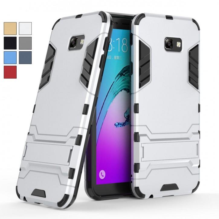 COOVY® Cover für Samsung Galaxy J4 + plus SM-J415F/DS / SM-J415FN/DS (Model 2018) Bumper Case, Doppelschicht aus Plastik + TPU-Silikon, extra stark, Anti-Shock, Standfunktion