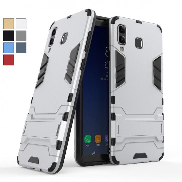COOVY® Cover für Samsung Galaxy A9 SM-A920 / SM-A920F/DS / A9 Star Pro/ A9s (Model 2018) Bumper Case, Doppelschicht aus Plastik + TPU-Silikon, extra stark, Anti-Shock, Standfunktion